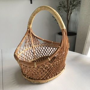 3 for $20🌼 Wicker Basket with Wrapped Handle